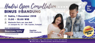 Grand Open House BINUS @Bandung Hadirkan Karya dan Produk Mahasiswa