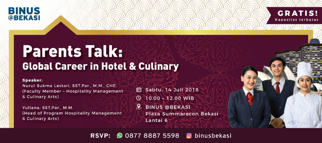 Parents Talk: Global Career in Hotel & Culinary