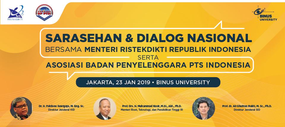 Sarasehan & Dialog Nasional Bersama Menteri Ristekdikti Republik Nasional