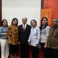 Sidang promosi doktor Bapak Yustinus Suhardi Ruman di UI Depok