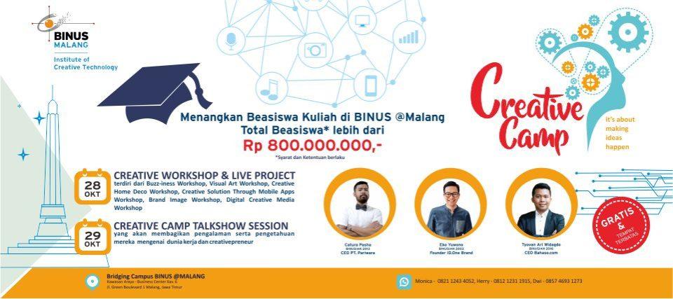 CREATIVE CAMP BINUS @Malang