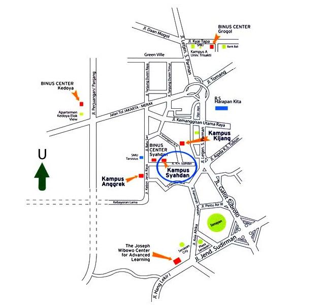 Map Binus Syahdan