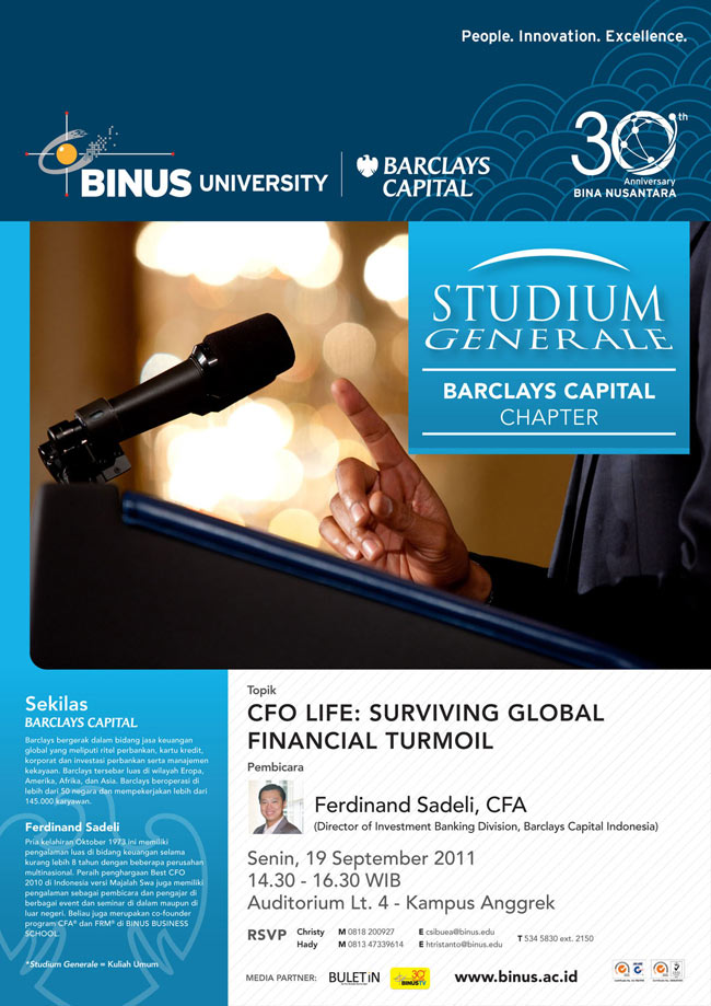 STUDIUM GENERALE: BARCLAYS CAPITAL CHAPTER