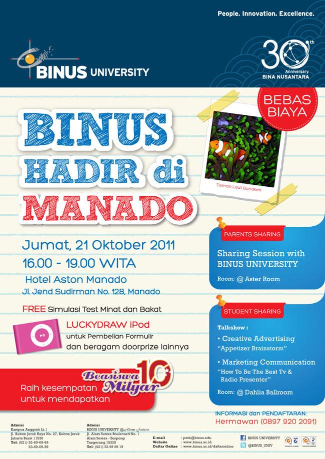 BINUS Hadir di Manado