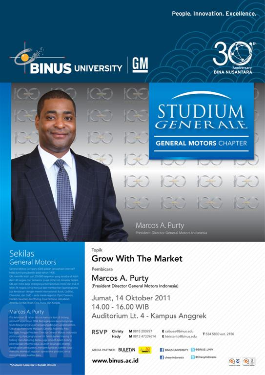 STUDIUM GENERALE: General Motors Chapter