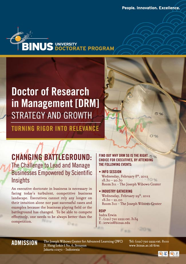 Info Session Doctor of Research in Management (DRM) Strategy and Growth BINUS