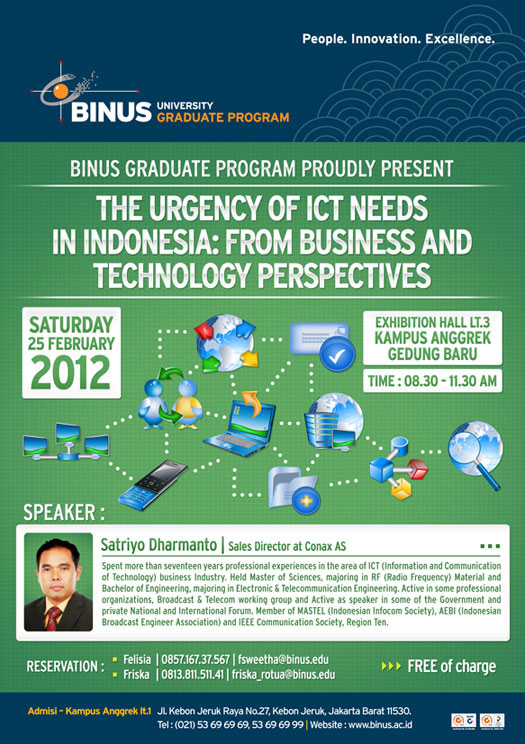 The Urgency of ICT Needs in Indonesia: From Business and Technology Perspectives
