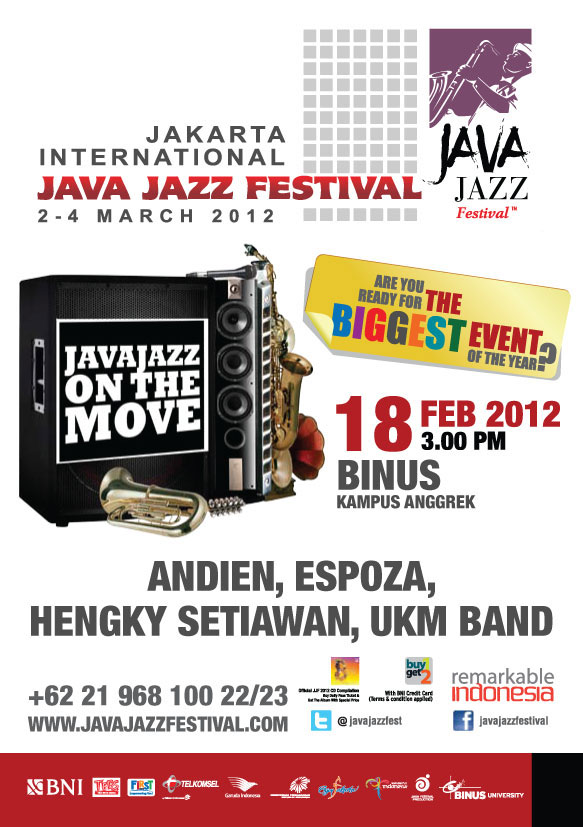 Java Jazz On The Move @ BINUS UNIVERSITY
