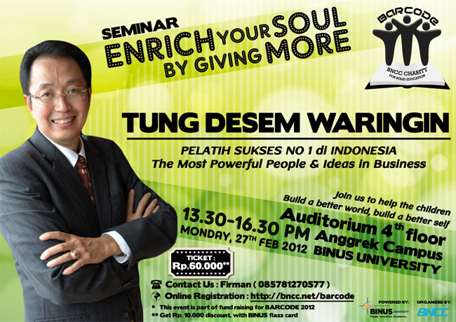 SEMINAR: Enrich Your Soul by Giving More