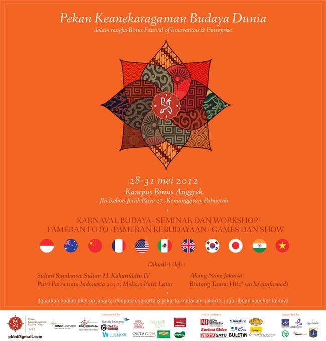 Pekan Keanekaragaman Budaya Dunia dalam rangka Binus Festival of Innovations & Enterprise