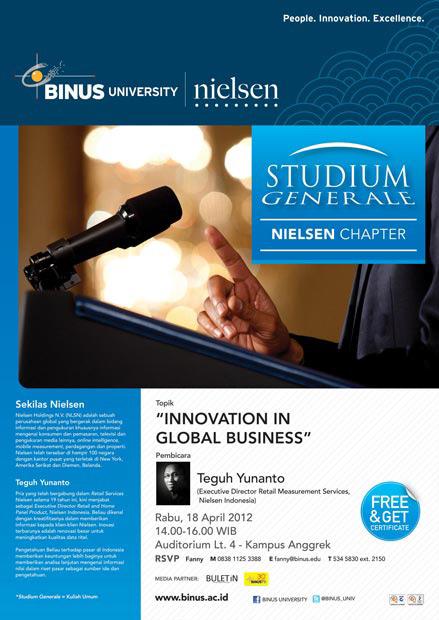 Studium Generale Nielsen Chapter: Innovation in Global Business