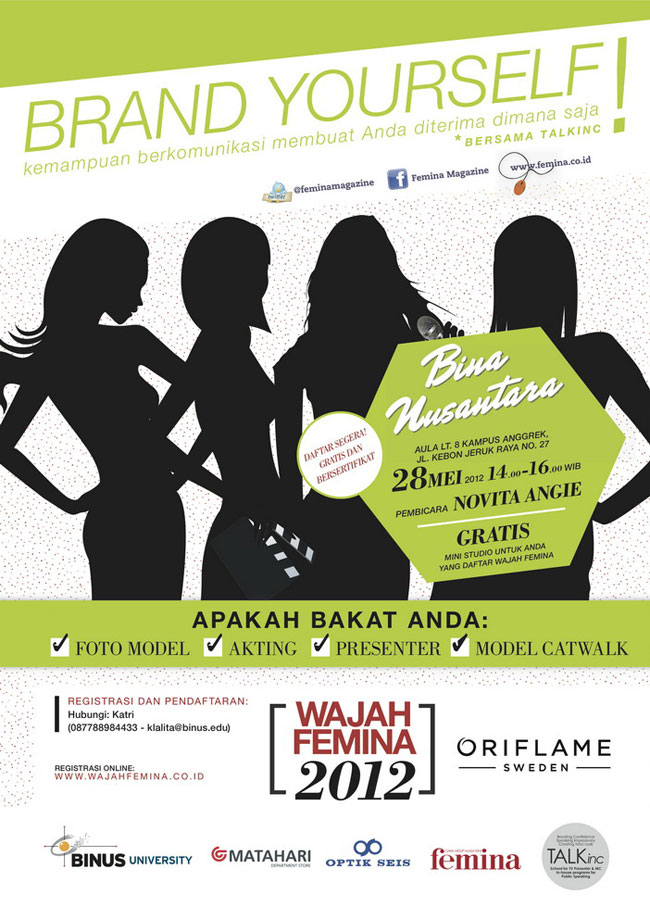 Seminar Brand Yourself BINUS Femina
