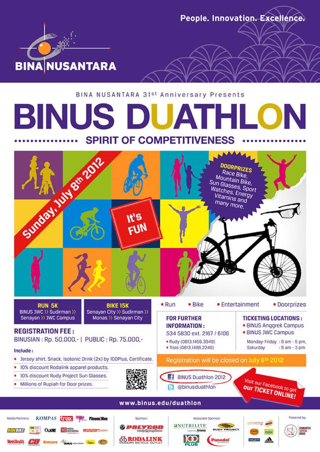 BINUS Duathlon - Spirit of Competitiveness BINUS 31st Anniversary