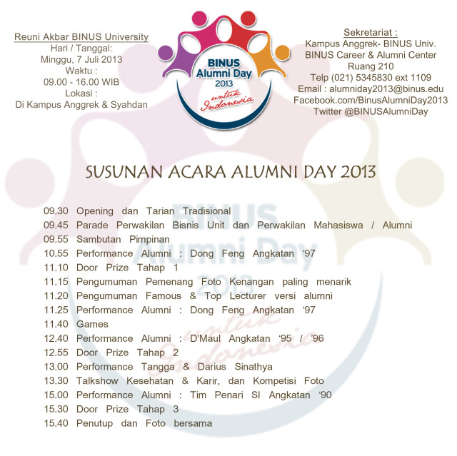 Susunan Acara Alumni Day