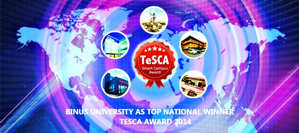 BINUS UNIVERSITY MENJADI JUARA NASIONAL TESCA 2014