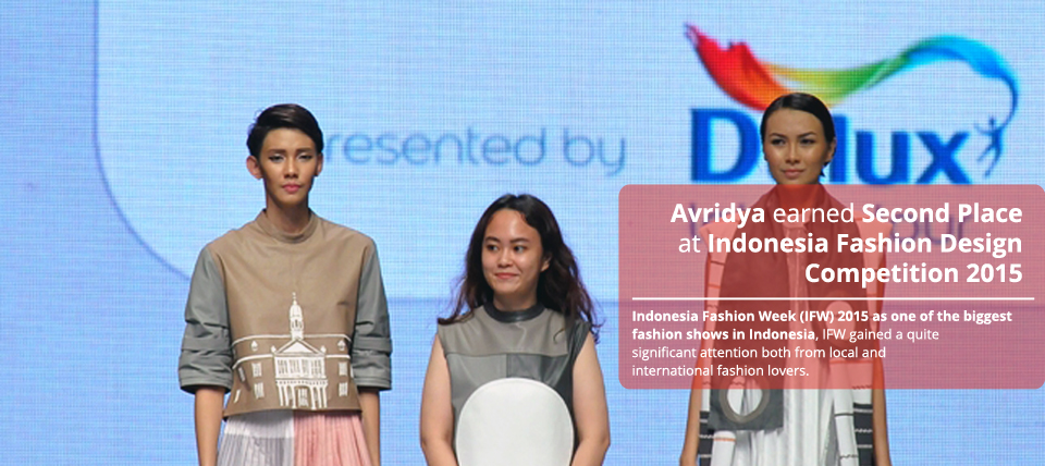 Inspired By Museum's Structure, Avridya Earned Second Place At Indonesia Fashion Design Competition 2015