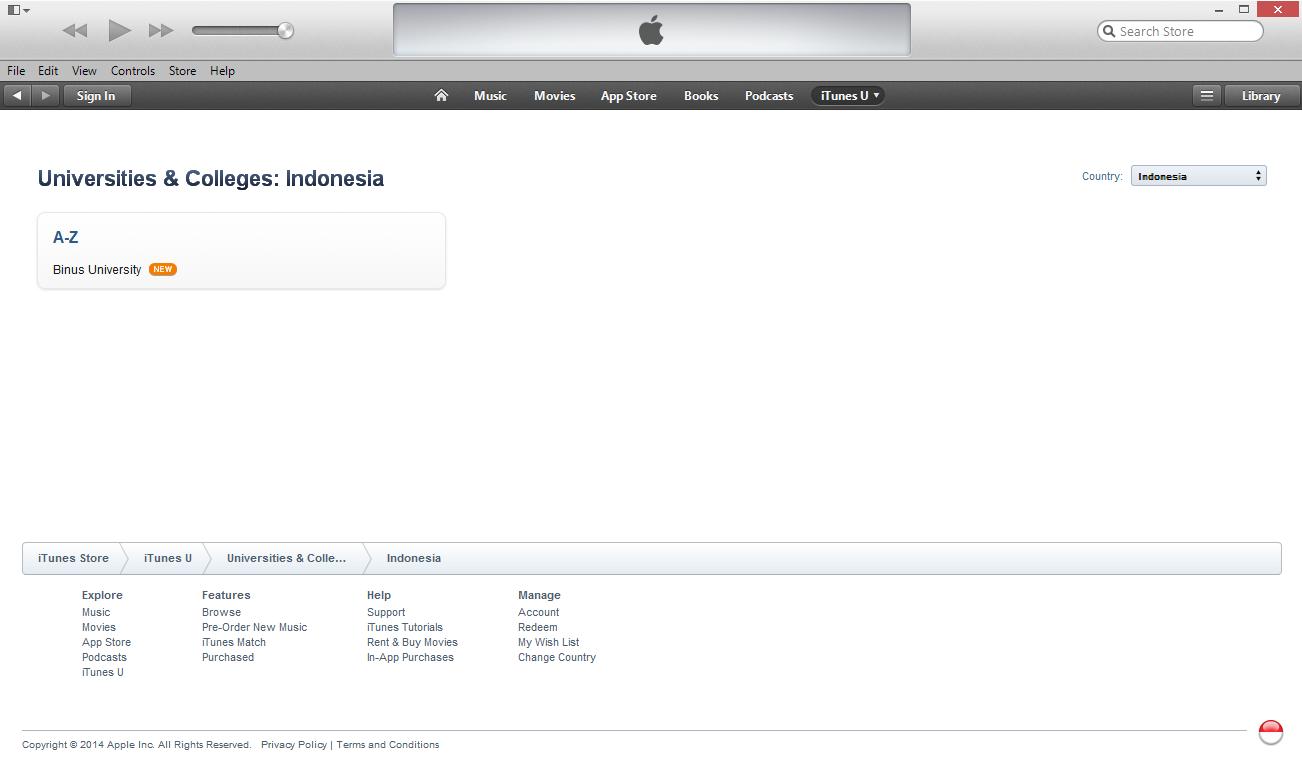 Binus University adalah Institusi Pertama dan Satu-Satunya dari Indonesia yang Ada di iTunes U