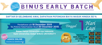Jadwal Pendaftaran Bulan Desember 2015