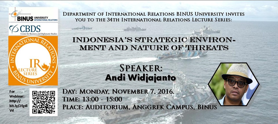 34th International Relations Lecturer Series