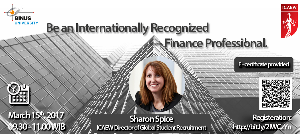 Be an Internationally Recognized - Finance Professional