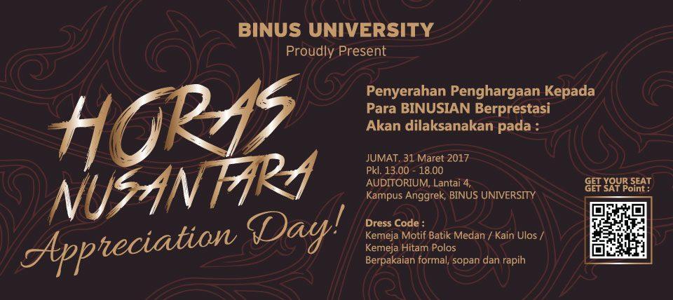 Appreciation Day – Horas Nusantara
