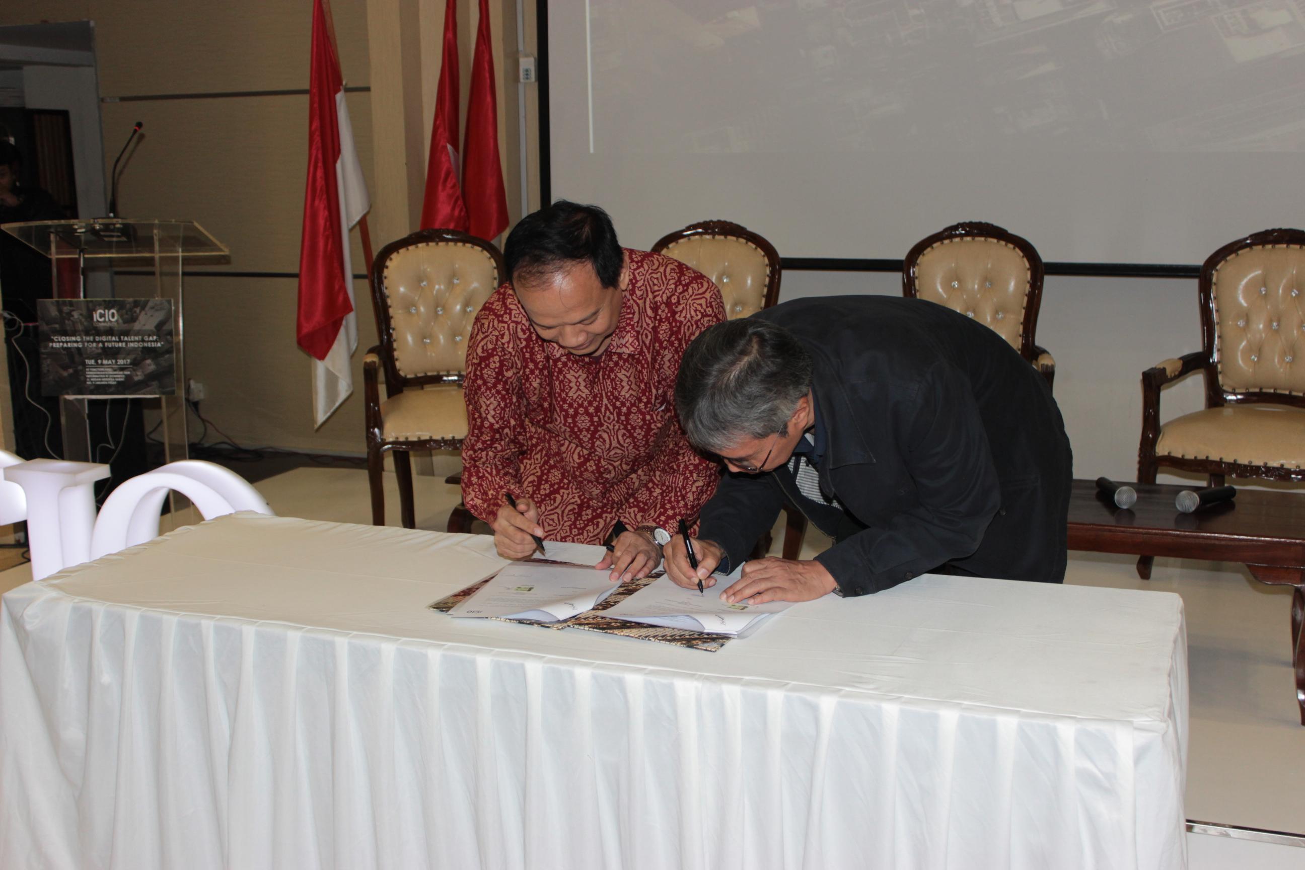 MoU Signing BINUS UNIVERSITY dengan iCIO Community