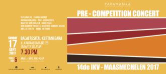 Sebelum Berkompetisi di Belgia, PARAMABIRA Akan Gelar Konser