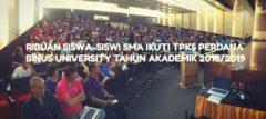 Ribuan Siswa-siswi SMA Ikuti TPKS Perdana BINUS UNIVERSITY Tahun Akademik 2018/2019