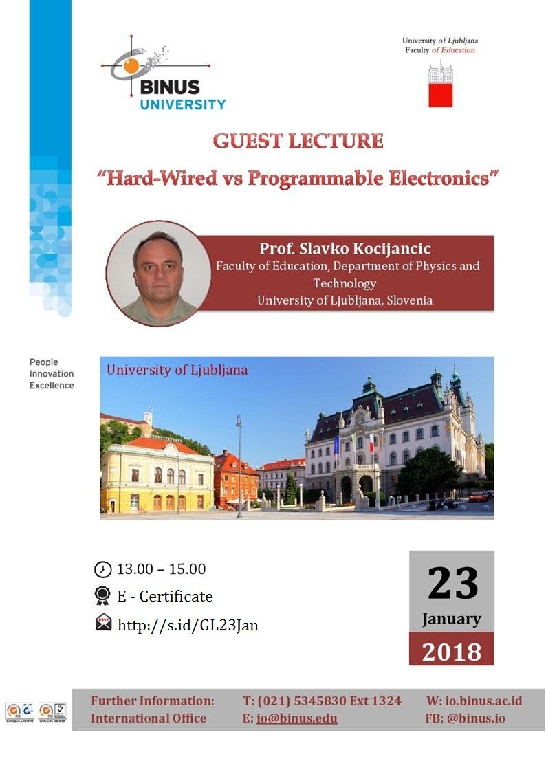 Guest Lecture from Prof. Slavko Kocijancic