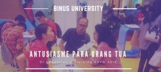 Antuasiasme Para Orangtua di BINUS UNIVERSITY Education & Training EXPO 2018