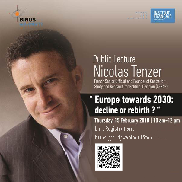 """Public Lecture """"Europe towards 2030 : decline or rebirth?"""""""