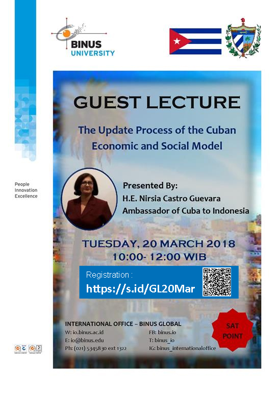 Guest Lecture from H.E. Nirsia Castro Guevara - Ambassador of Cuba for Indonesia