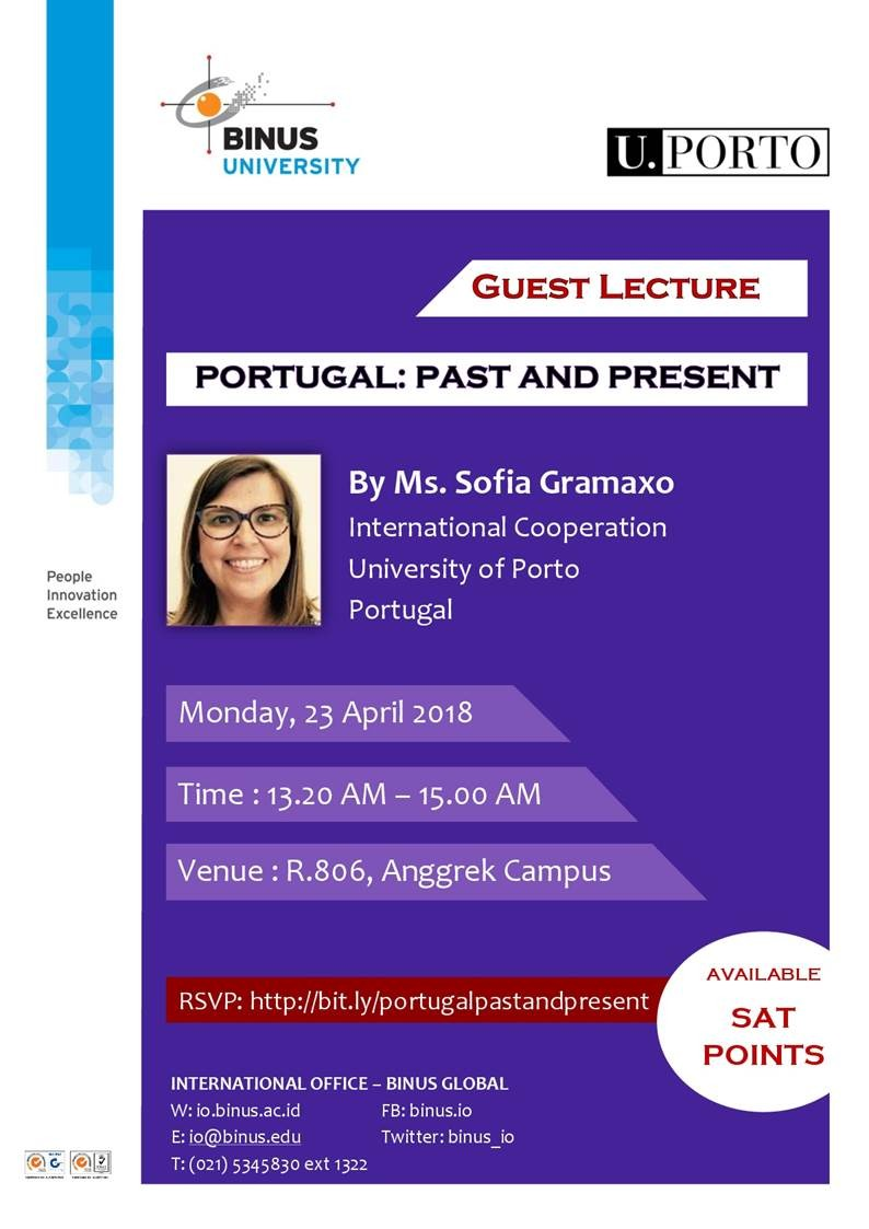 [International Guest Lecture] - Portugal:  Past and Present