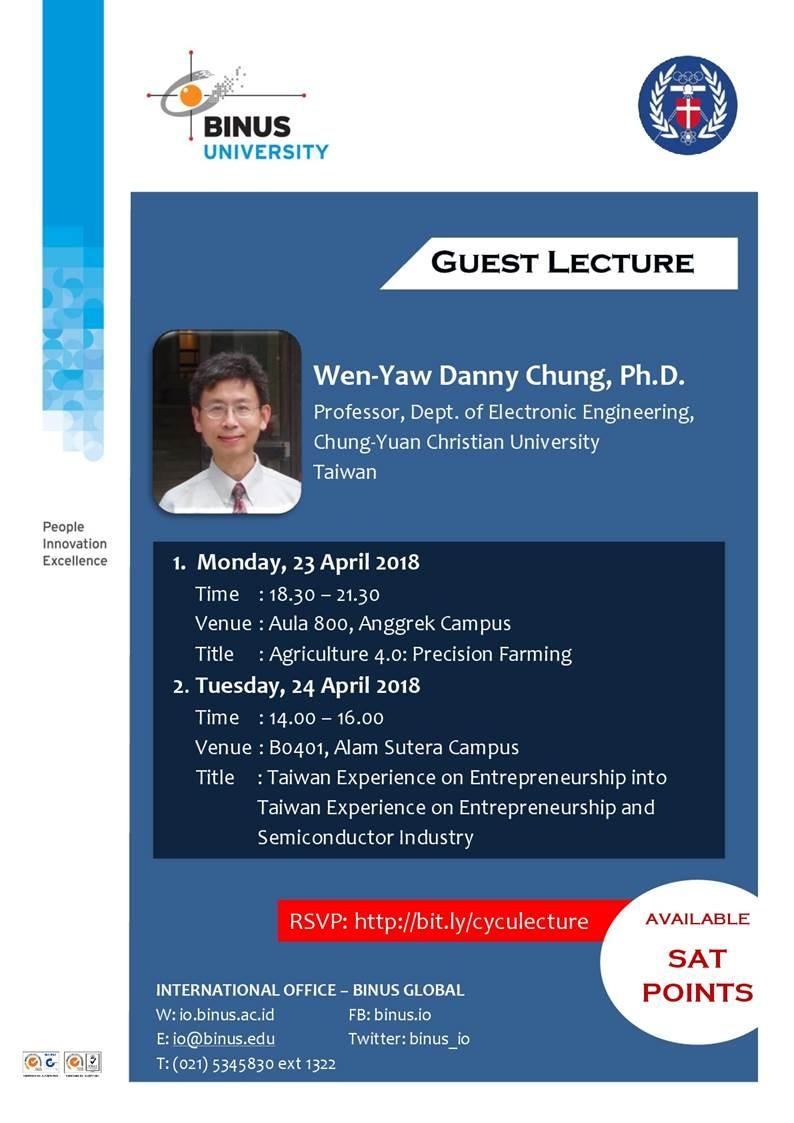 Guest Lecture - Agriculture 4.0: Precision Farming