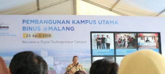 Binus @Malang mulai proses pembangunan Kampus Utamanya hari ini