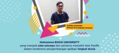 Mahasiswa BINUS University menjadi Satu-Satunya dan Pertama Mewakili Asia Pasifik dalam Konferensi Pengembangan Aplikasi Tingkat Dunia