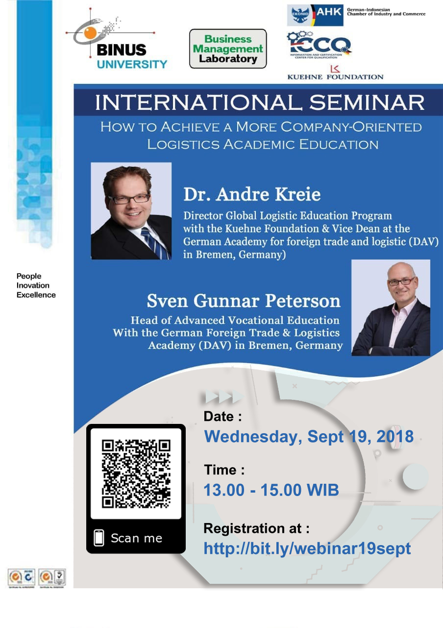 International Seminar: How To Achieve A More Company Oriented Logistics Academic Education