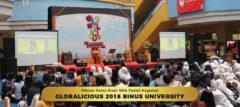 Ribuan Siswa Siswi SMA Padati kegiatan Globalicious 2018 BINUS UNIVERSITY