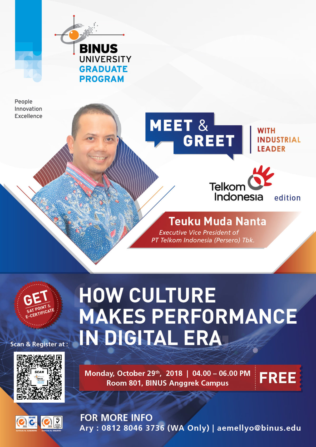Meet & Greet with Industrial Leader - Telkom Indonesia Chapter