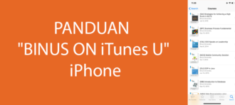 "Panduan Mengakses ""BINUS ON iTunes U"" di Smartphone iPhone"