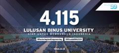4115 Lulusan BINUS Siap Membangun Indonesia