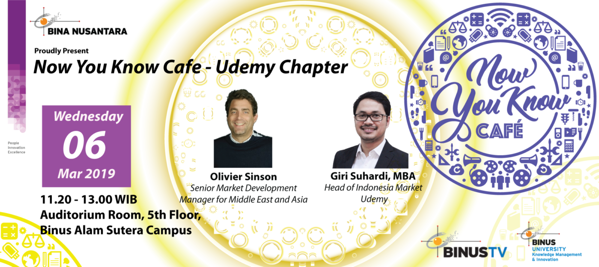 Now You Know Cafe - Udemy Chapter