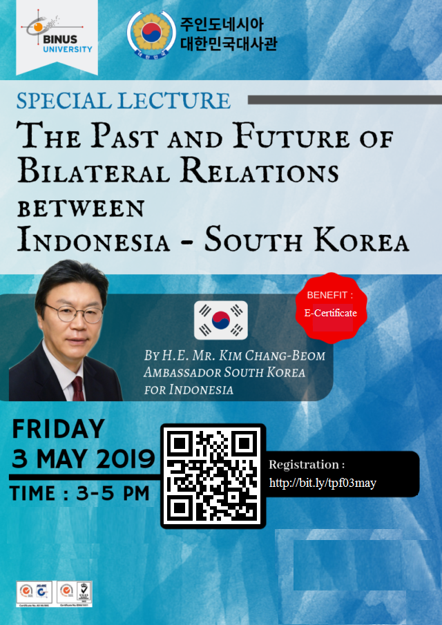 Special Lecture: The Past and Future of Bilateral Relations between Indonesia – South Korea