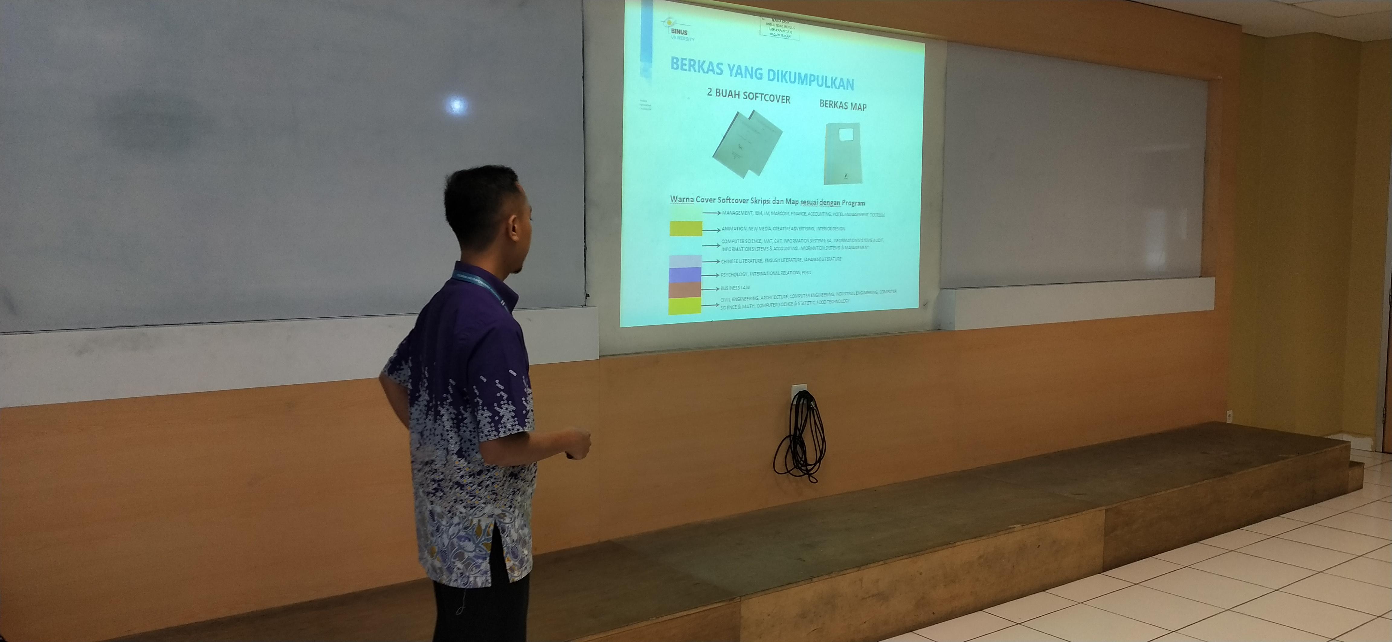 Briefing Pengumpulan Soft Cover Skripsi Periode Semester Ganjil 2019 2020 1 Gallery Binus University