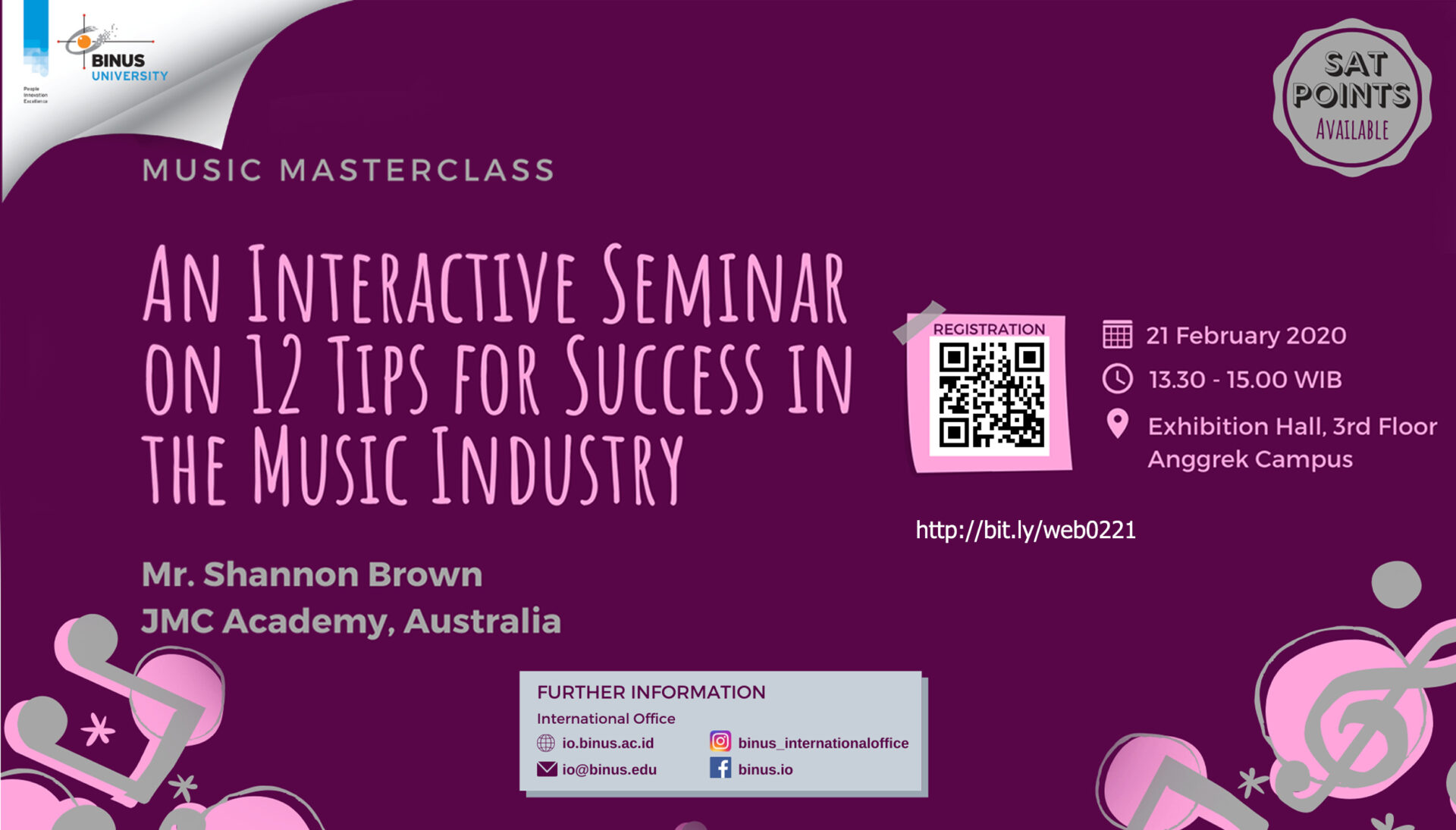 An Interactive Seminar on 12 Tips for Success in the Music Industry Gallery