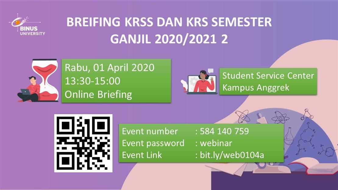 Briefing KRSS dan KRS Semester Ganjil 2020/2021 2