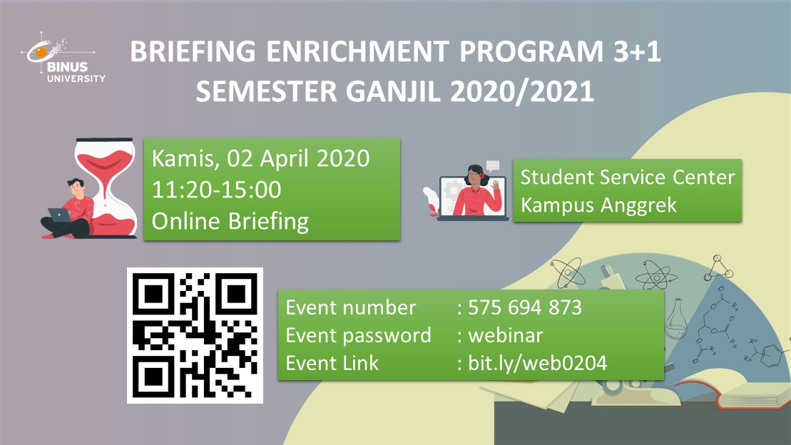 Briefing Enrichment Program (3+1) Semester Ganjil 2020/2021