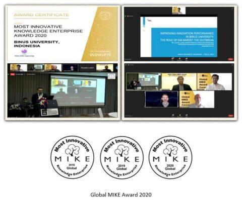 BINUS UNIVERSITY DINOBATKAN SEBAGAI  THE MOST OUTSTANDING WINNERS OF THE GLOBAL MIKE AWARD 2020