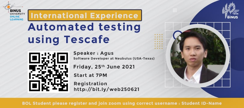 International Experience - Automated Testing Using Tescafe