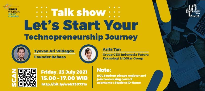 Industrial Sharing Let's Start Your Technopreneurship Journey